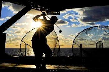 Golf Practice Net in use