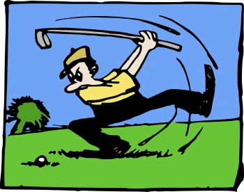 Best Swing Training Aid Cartoon making fun