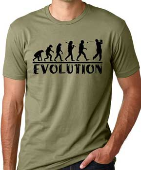 golf-evolution-t-shirt