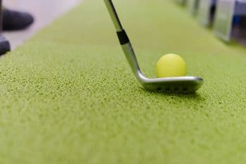 Practice Golf Ball used on indoor green