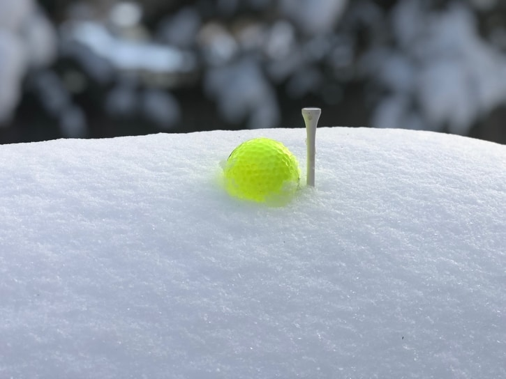 Golf Ball in the Snow