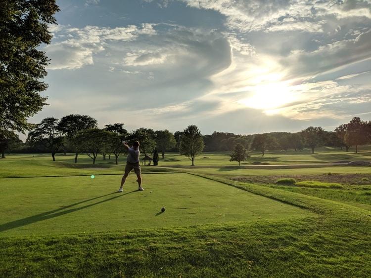 Denny Putsh Golfing in Lake Geneva