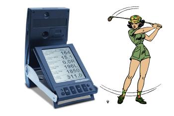 GC2 launch monitor woman golfing