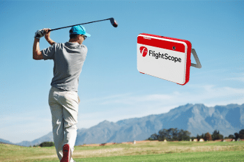 image of golfer using flightscope mevo plus